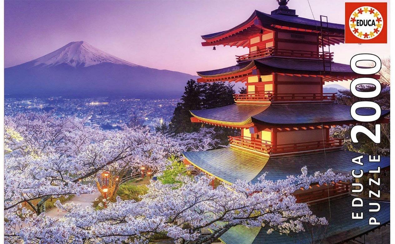 Educa 2000 Piece Jigsaw Puzzle: Mount Fuji