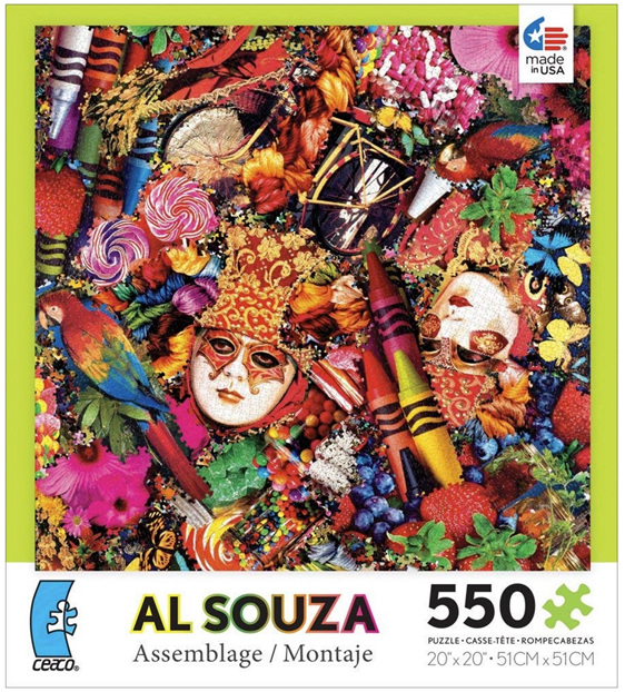 buy at www.puzzlesnz.co.nz Ceaco 550 piece puzzle Al Souza Assemblage