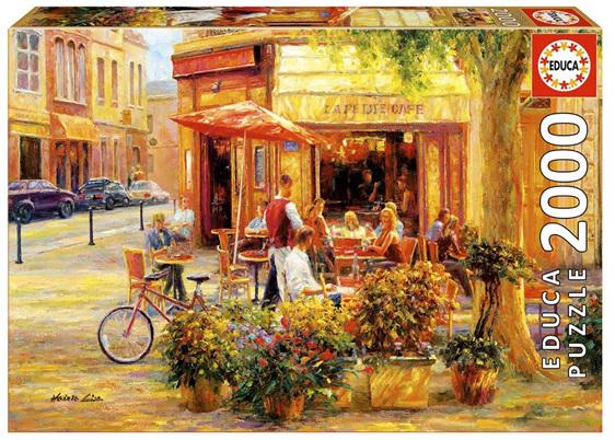 buy at www.puzzlesnz.co.nz Educa 2000 piece jigsaw puzzle Corner Cafe