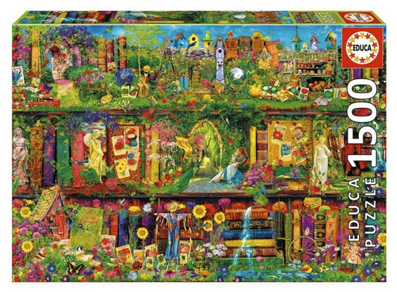 buy at www.puzzlesnz.co.nz Educa 1500 piece jigsaw puzzle The Garden Shelf