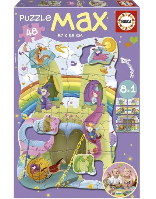 buy at www.puzzlesnz.co.nz Educa max 48 piece floor puzzle Princess & Knights