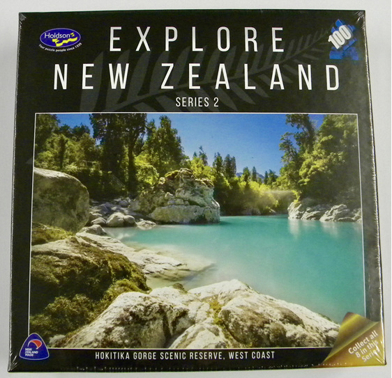 buy at www.puzzlesnz.co.nz  holdson explore NZ 100 piece puzzle Hokitika Gorge