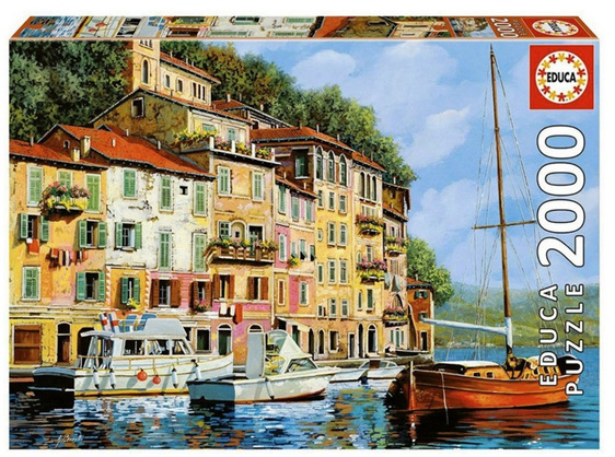 buy at www.puzzlesnz.co.nz Educa 2000 piece jigsaw puzzle La Barca Rossa