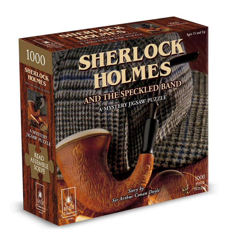 buy at www.puzzlesnz.co.nz Bepuzzled Sherlock Holmes and the Speckled Band