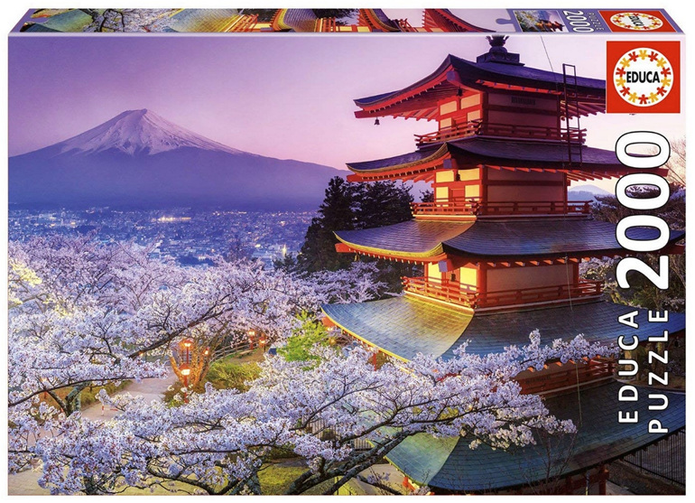 buy at www.puzzlesnz.co.nz Educa 2000 piece jigsaw puzzle Mount Fuji