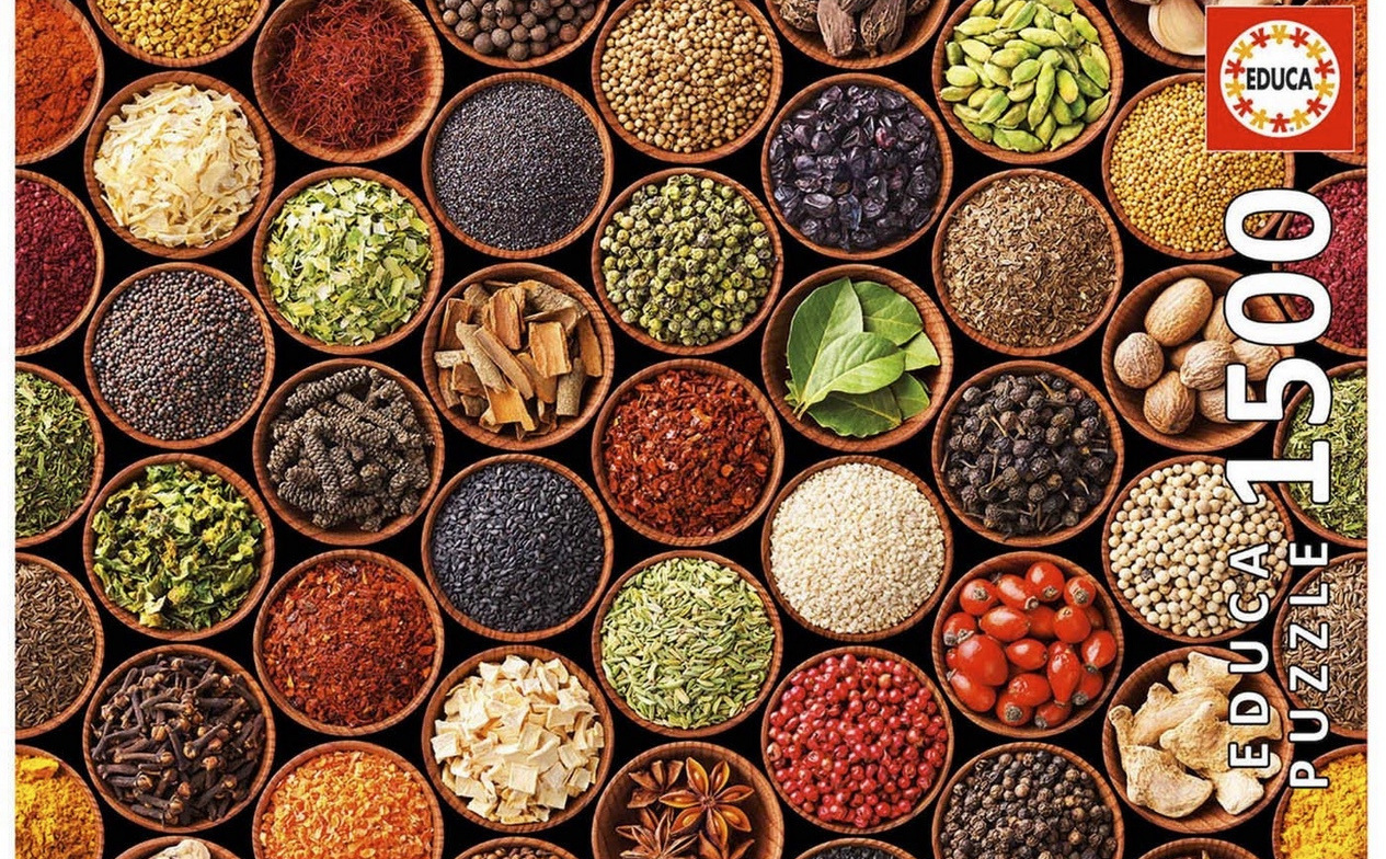 Educa 1500 Piece Jigsaw Puzzle: Herbs And Spices