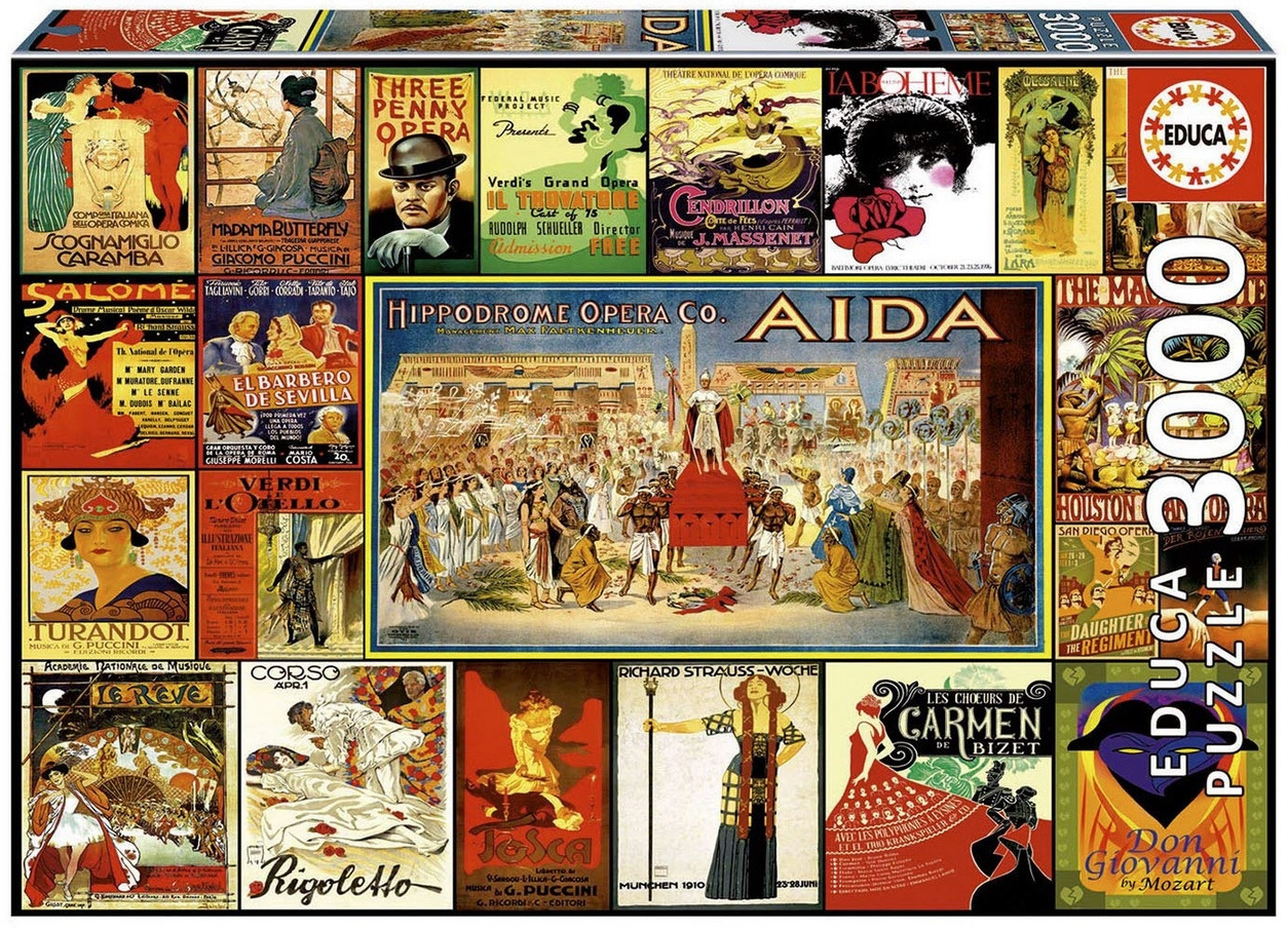 Educa 3000 Piece Jigsaw Puzzle: Collage Of Operas