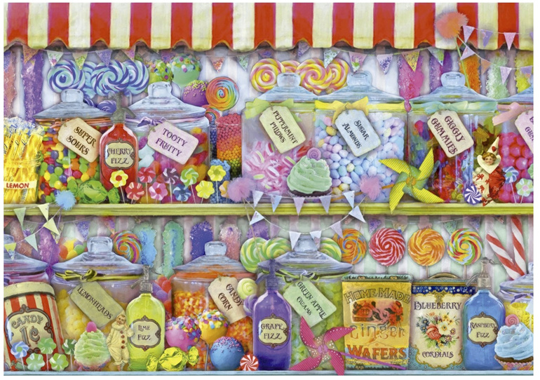 buy at www.puzzlesnz.co.nz Educa 1000 piece puzzle Candy Shop