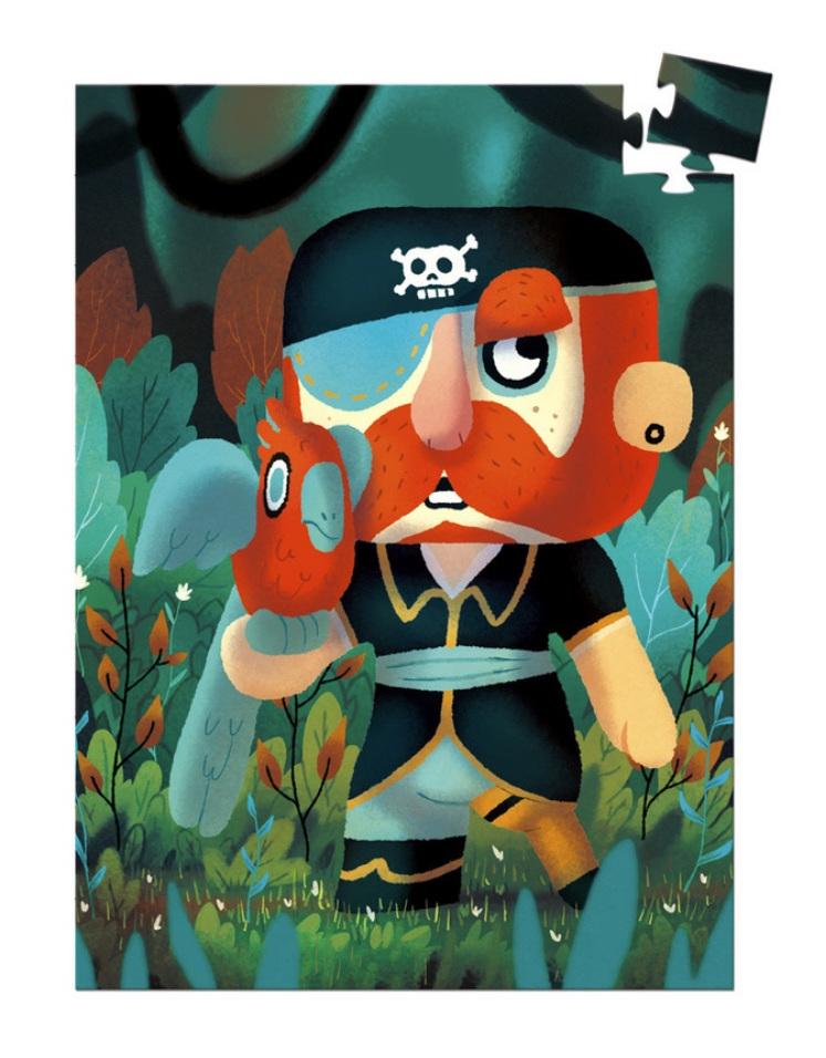 buy at www.puzzlesnz.co.nz  Djeco 60 piece mini jigsaw puzzle Sam Parrot