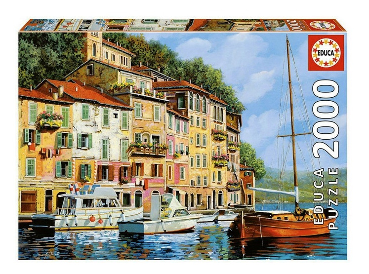 buy at www.puzzlesnz.co.nz Educa 2000 piece jigsaw puzzle La Barca Rossa