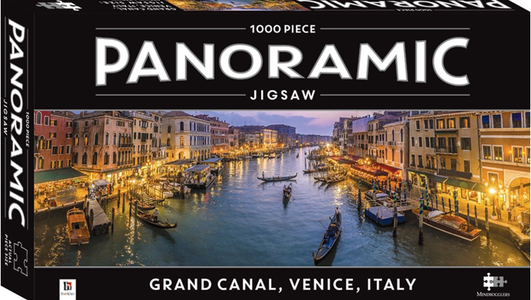 buy at www.puzzlesnz.co.nz Hinkler 1000 piece puzzle Venice Grand Canal panorama