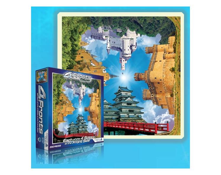 buy at www.puzzlesnz.co.nz online nz 4 Fronts Castle Quartet 550 Piece  jigsaw