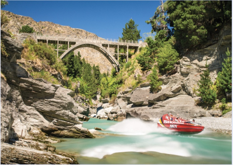 buy at www.puzzlesnz.co.nz  holdson explore NZ 100 piece puzzle Shotover Canyon