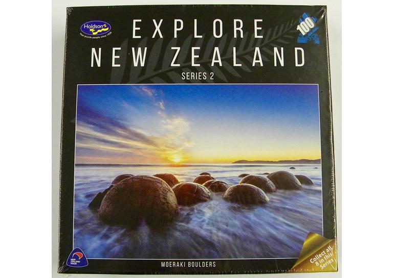 buy at www.puzzlesnz.co.nz  holdson explore NZ 100 piece puzzle Moeraki Boulders