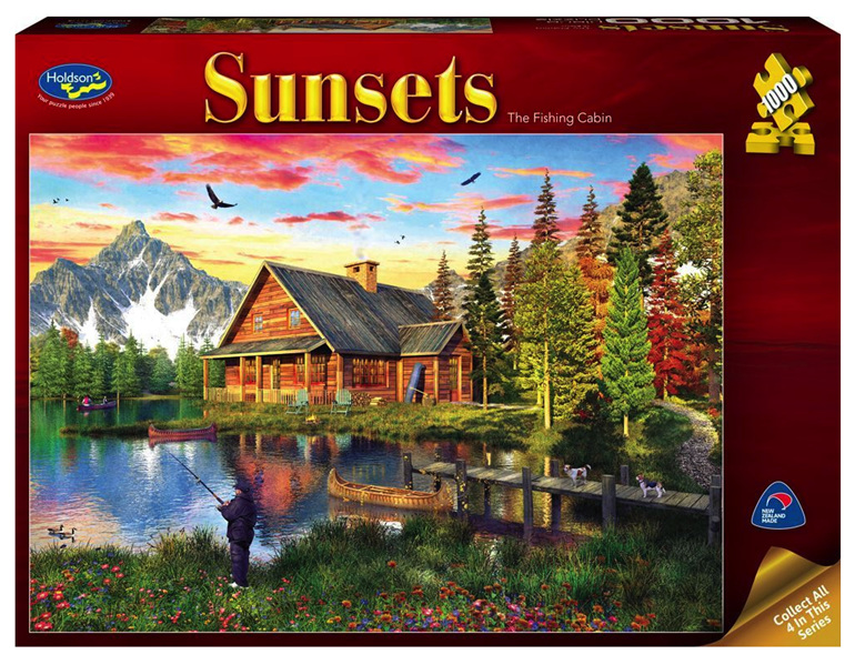 buy at www.puzzlesnz.co.nz Holdson 1000  piece puzzle The Fishing Cabin