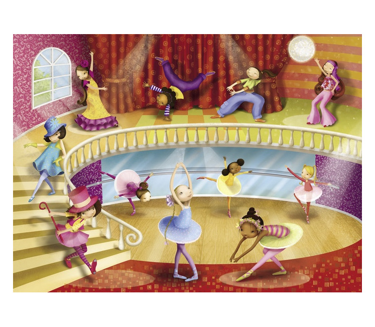 buy at www.puzzlesnz.co.nz Crocodile Creek 50 piece jigsaw puzzle Dance Studio