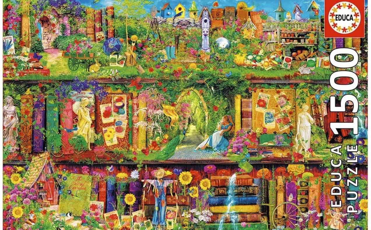 Educa 1500 Piece Jigsaw Puzzle: The Garden Shelf