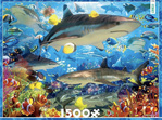 buy at www.puzzlesnz.co.nz Ceaco 1500 piece jigsaw puzzle Reef Sharks