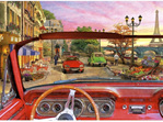 buy at www.puzzlesnz.co.nz Educa 1500 piece jigsaw puzzle Paris in a car