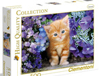buy at www.puzzlesnz.co.nz Clementoni 500 piece puzzle Ginger Cat in Flowers
