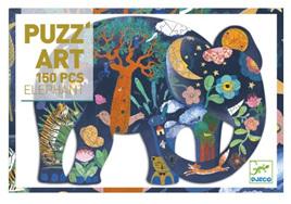 Djeco Puzzle Art 150 Piece Jigsaw Puzzle: Elephant