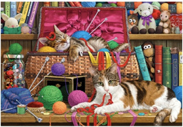 Holdson 300 Piece Jigsaw Puzzle:  The Purrfect Life