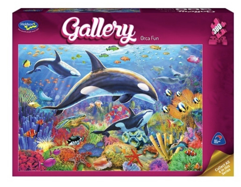 buy at www.puzzlesnz.co.nz Holdson 300 XL piece jigsaw puzzle Orca Fun