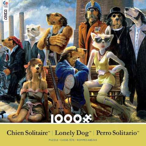 Ceaco USA Lonely Dog 1000 Piece Jigsaw Puzzle: Cast And Crew