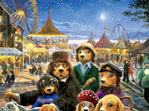 buy Ceaco 1000 piece puzzle Lonely Dog Night at Carnival  at www.puzzlesnz.co.nz