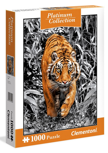 Clementoni 1000 Piece Jigsaw Puzzle: Platimum Tiger