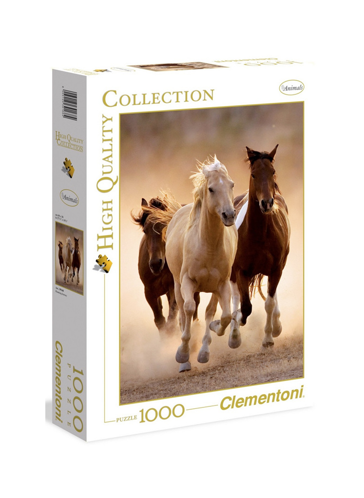 Clementoni 1000 Piece Jigsaw Puzzle: Running Horses