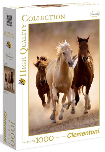 Clementoni 1000 Piece Jigsaw Puzzle: Running Horses