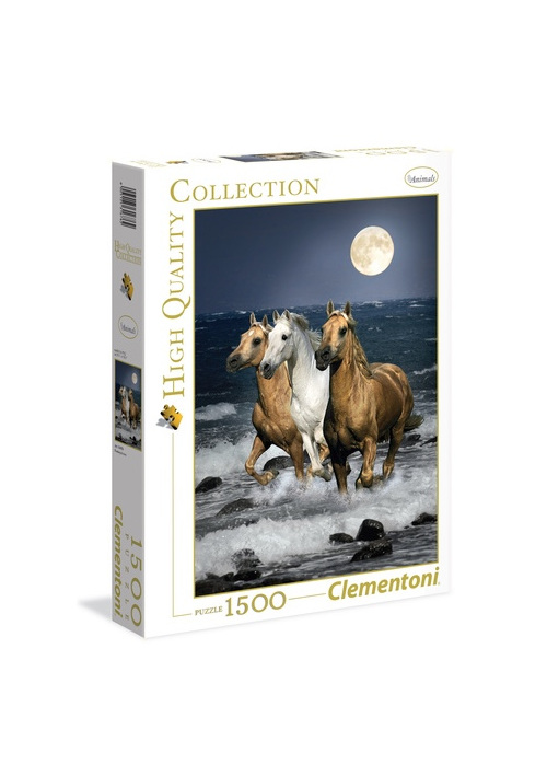 buy Clementoni 1500 piece jigsaw puzzle Cavalli in Corsa at www.puzzlesnz.co.nz