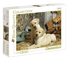 Clementoni 1500 Piece Jigsaw Puzzle: Hunting Dogs