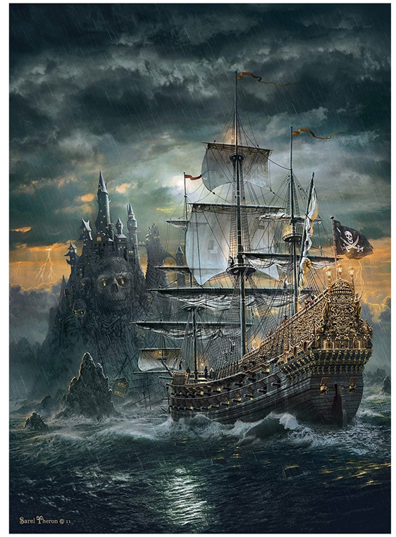 buy Clementoni 1500 piece jigsaw puzzle The Pirate Ship  at www.puzzlesnz.co.nz