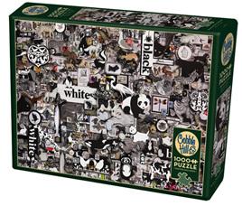 Cobble Hill 1000 Piece Jigsaw Puzzle: Black & White Animals