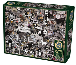 Cobble Hill 1000 Piece Jigsaw Puzzle: Black & White Animals