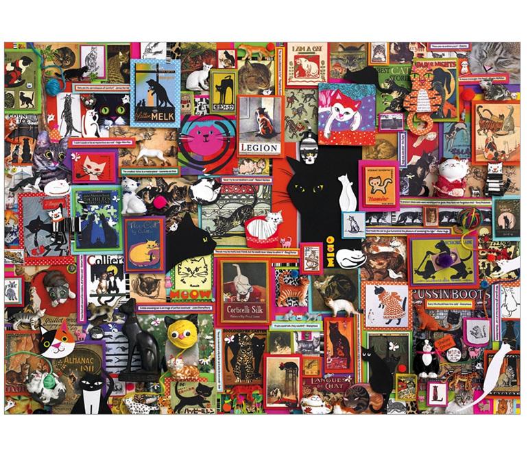 buy Cobble Hill Catsville 1000 piece jigsaw puzzle at www.puzzlesnz.co.nz