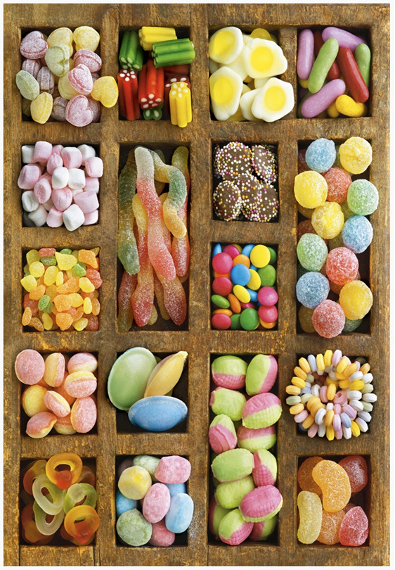 buy Educa 15963 500 piece  puzzle Sweet Collage in NZ at www.puzzlesnz.co.nz