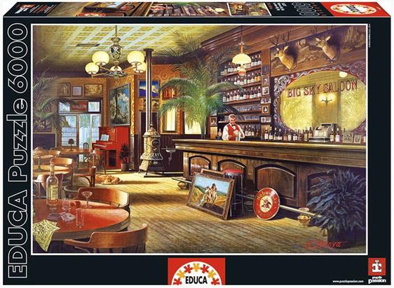 buy Educa 16357 6000 piece jigsaw puzzle Big Sky Saloon at www.puzzlesnz.co.nz