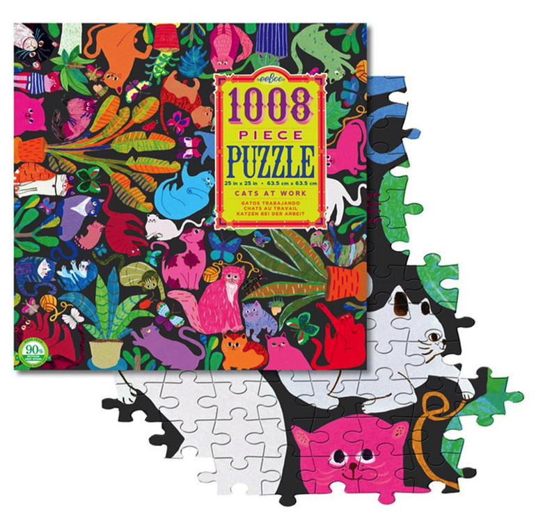 buy eeBoo Cats at Work 1008 piece jigsaw puzzle at www.puzzlesnz.co.nz