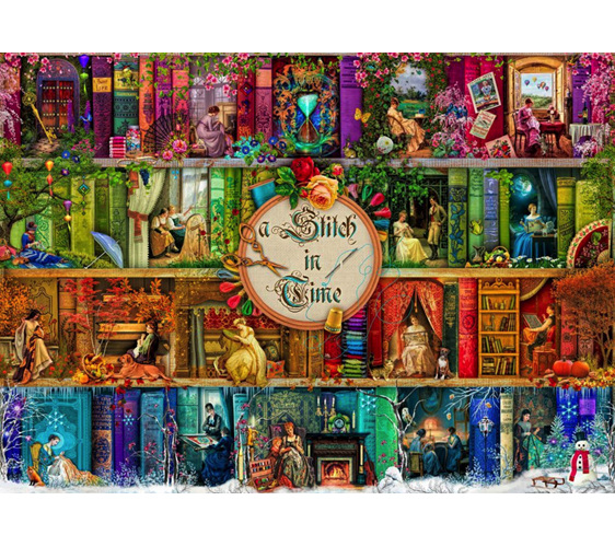 buy Holdson 1000 piece jigsaw puzzle A Stitch in Time at www.puzzlesnz.co.nz