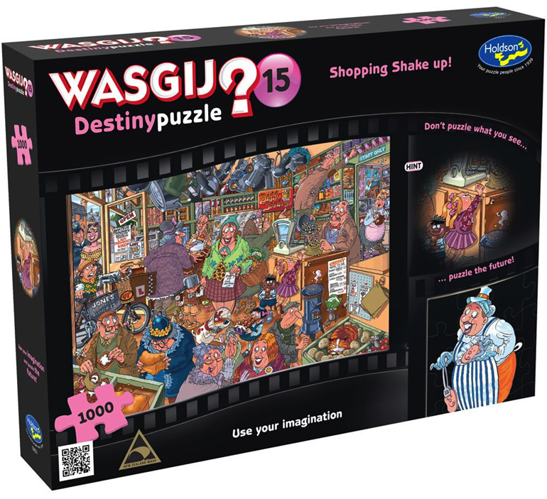 Buy Holdson Wasjig 1000 piece puzzle Shopping shake Up at www.puzzlesnz.co.nz