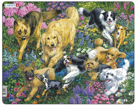 Larsen 32 Piece Tray Jigsaw Puzzle: Dogs In The Field