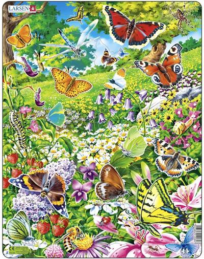 Larsen Tray Jigsaw Puzzle: Butterflies