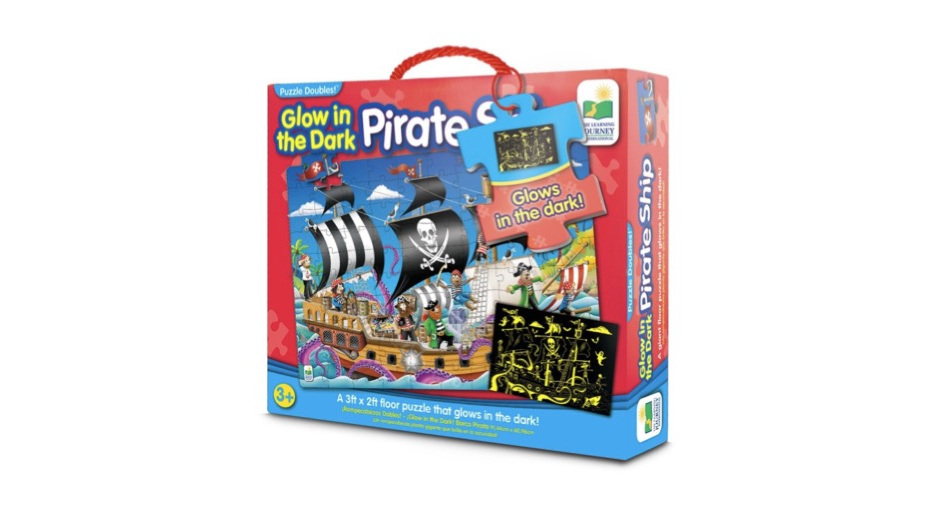 Learning Journey 100 Piece Jumbo Floor Puzzle: Glow In The Dark Pirate Ship