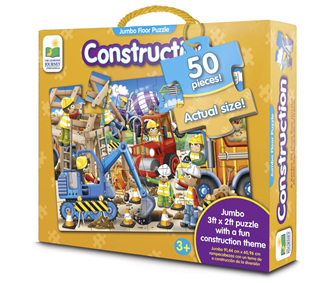 Learning Journey 50 Piece Jumbo Floor Puzzle: Construction