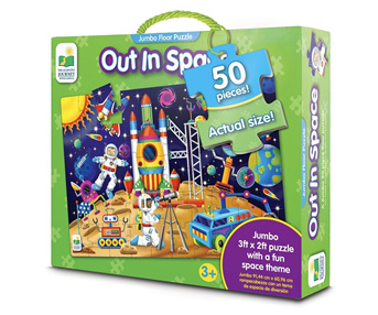 Learning Journey 50 Piece Jumbo Floor Puzzle: Space