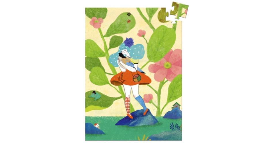 Djeco 60 Piece Mini Jigsaw Puzzle: Miss Chichi