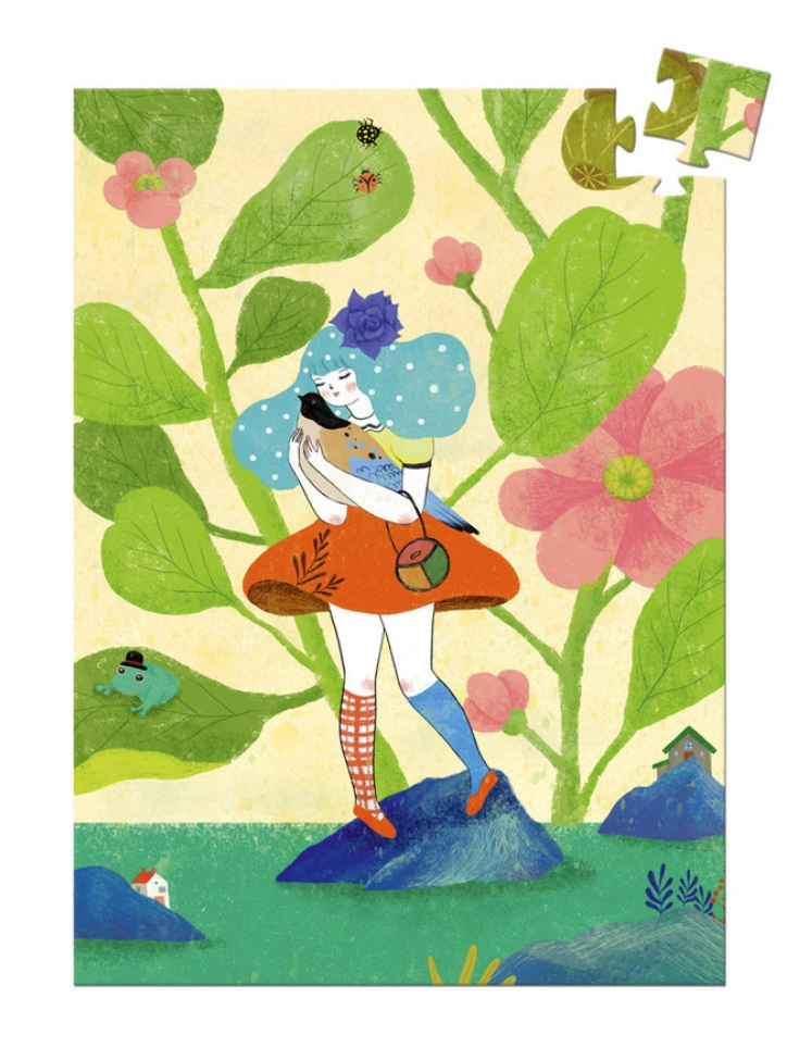 buy  online at www.puzzlenz.co.nz Djeco 60 piece mini puzzle Miss Chichi